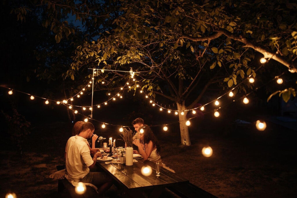 Summer patio light installations in Collingwood and Blue Mountains