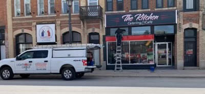 The Kitchen Meaford - truck logo window cleaning